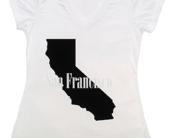 San Francisco California V-Neck