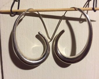 """Mexican silver """"hoops"""""""