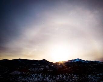 Colorado Springs in Winter Canvas