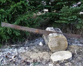 Vintage 2 man crosscut saw