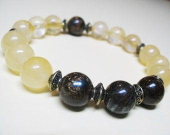 Bronzite Bracelet Yellow Calcite Bracelet Citrine Bracelet Power Bracelet Chakra Bracelet Energy Bracelet Healing Bracelet Spiritual Jewelry