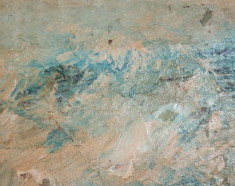Vintage abstract seascape oil painting