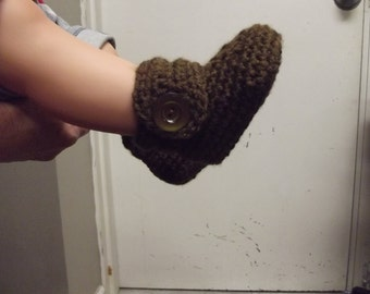 Crochet Booties for Baby boy