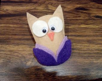 Plush Owl Magnet