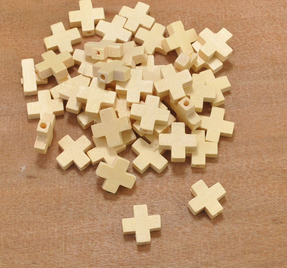 Wood cross link 50pcs small unfinished wood cross pendant for Cheap wooden crosses for crafts