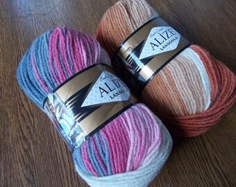 Lana gold Batik, Lanagold Batik, Selfstriping Yarn, alize yarn, wool yarn, wool blend, knitting yarn, yarn for sale, batik yarn