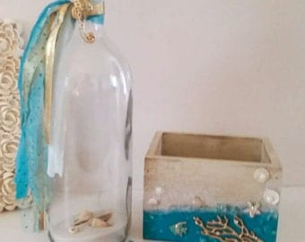 Wedding Guest book, Message in a bottle, Wedding Guest Book alternative,  Wedding Guestbook, Destination  Wedding, Beach Wedding,Beach Guest