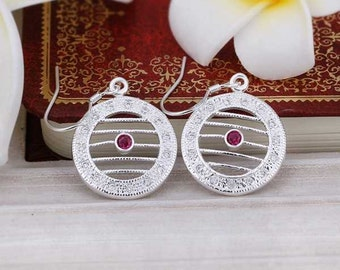 SS Circle Line Earrings