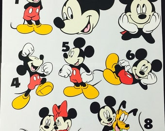 "7""- 10"" Mickey Mouse full body cut outs"