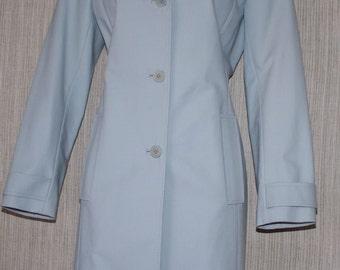 M-A-G MAGASCHONI Blue Cotton Blend Women Coat SIZE:2