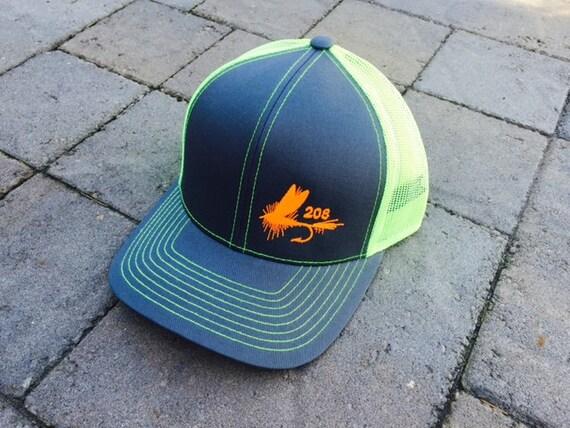 Area code art fly fishing trucker hat 208 area by areacodeart for Fly fishing trucker hat