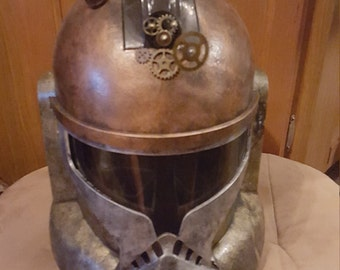 Steampunk Star Wars Clone Trooper cosplay helmet