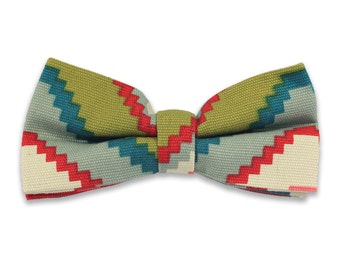 Colorful Geometric Pre-Tied Bow Tie