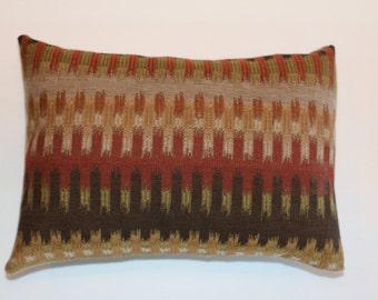 Exclusive 12x16 Brown Rust Beige Kilim Decorative Throw Lumbar Pillow