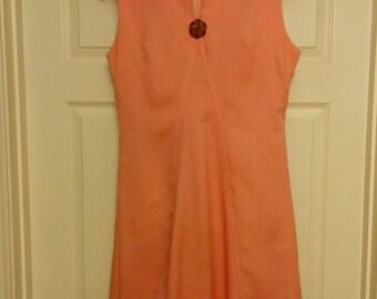 Vintage pink linen dress