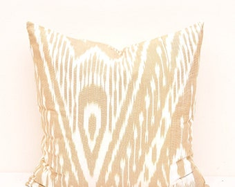 Pillow Covers Peach - Throw Pillow Cover- Ikat Pillow Cover Ivory - Chevron Pillow Cover - Decorative Pillow Cover-20x20 Designer Pillow