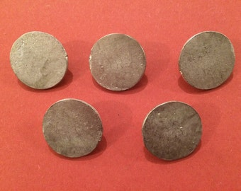 24mm Flat Pewter Button (5 Pack) - Re-Enactment, Living History