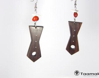Violette de Guyane wood earrings