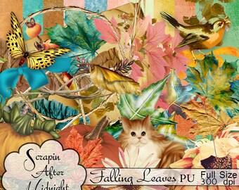Falling Leaves  Scrap Kit