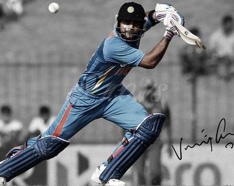 Virat Kohli signed photo print - 12x8 inch - high quality -