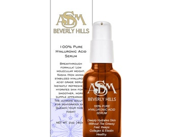 Anti Aging Serum with Hyaluronic Acid- Cruelty Free