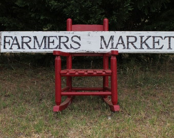 Farmers Market sign, 45 inches long, reclaimed wood, distressed sign