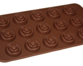 Taavi Funky Rose Silicone Mold (Candy, Chocolate, Ice Cube, Finger Jello) (T-814)
