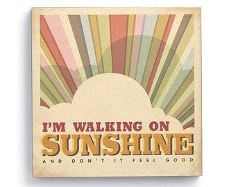 Lyricology Walking On Sunshine Wall Art