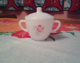Vintage Federal Glass co. sugar bowl