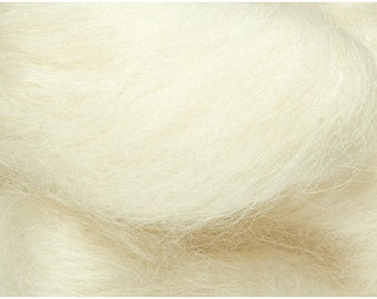 Wensleydale uncolored 100% virgin wool, 1 OZ, combed top, roving, for spinning, wet felting, needle felting.