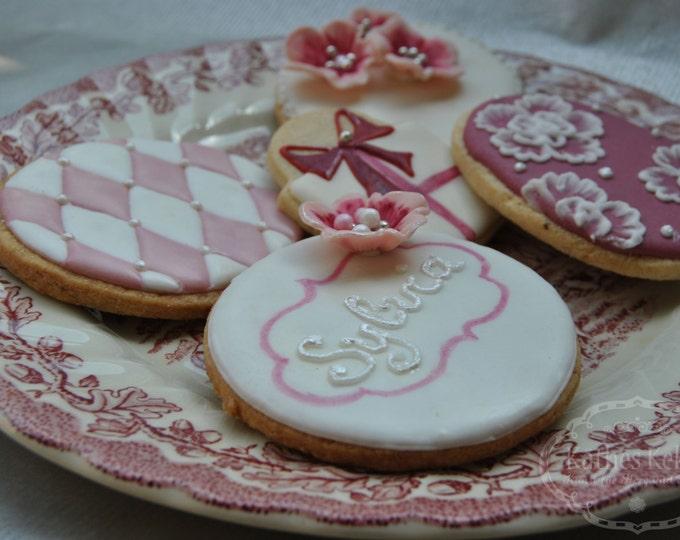 Set Muttertagskekse, 5 Kekse, Schleife,Blume, feminin, Rose, personalisierbar