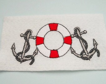 Patch anchor with lifebuoy application maritim gift for lovers of the sea