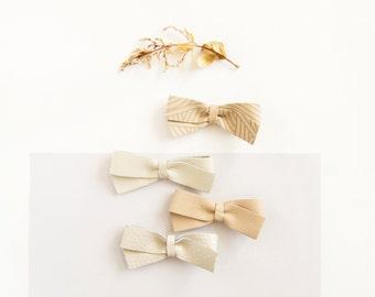 Baby Hair Bow Leather Bow Crocodile Clip/Nylon Headband, White Bow, Cream Bow, Baby Bow, Adult Bow, Newborn Bow, Soft Nylon Bow, Little Girl