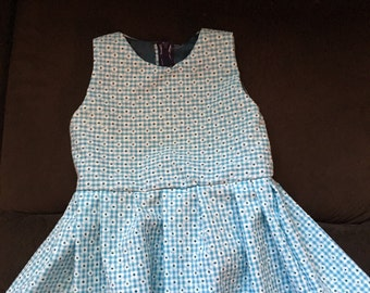 Turquoise gingham dress. 2T-3T