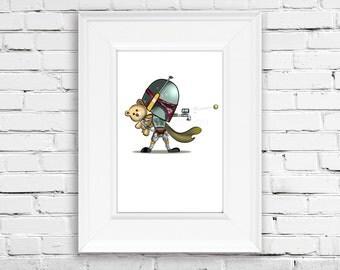 Star Wars Art - Baby Boba Fett Star Wars Print - Printable - Wall Art - Instant download - 8x10 - Children Room Decor - Nursery Art