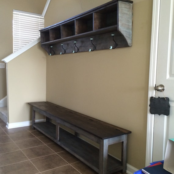 24 entryway storage shelf with hooks and cubbies. Black Bedroom Furniture Sets. Home Design Ideas