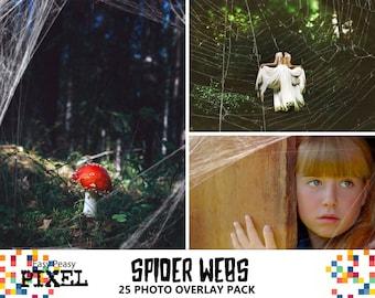SPIDERWEB PHOTOSHOP OVERLAYS, Photoshop Overlays, Spider Webs, Photoshop Webs, Cobweb, Spiderweb, Photoshop Web, Halloween Overlays