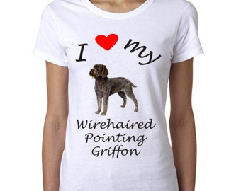 Wirehaired Pointing Griffon shirt - I Heart My Wirehaired Pointing Griffon shirt - Gift for the Wirehaired Pointing Griffon lover