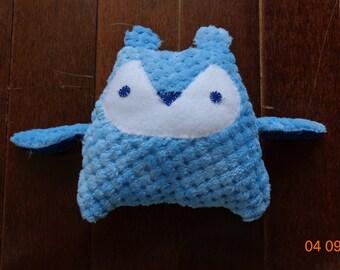 Blue fleece owl