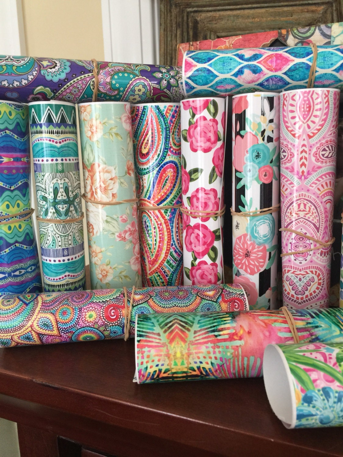 Beautiful vibrant patterned craft vinyl and heat transfer for Vinyl sheets for crafts