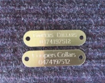 Brass Tag Only (with rivets)