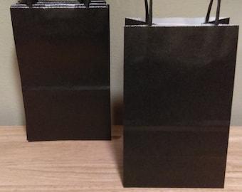 Black craft bags