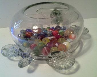 Glass turtle bowl