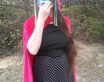 One of a kind beautiful Red Riding Hood Cape!