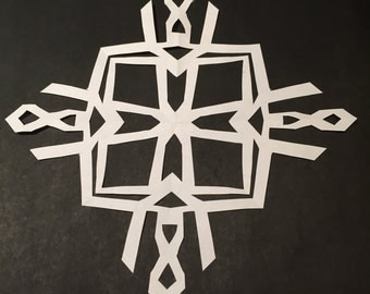 Abstract, 60's inspired snowflake