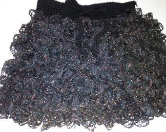 Girls Ruffle Skirt-Black
