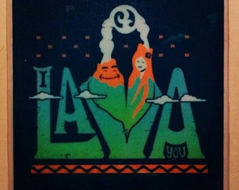 I Lava You - Single Coaster