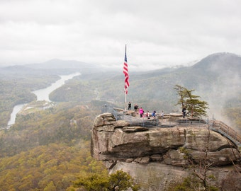 Chimney Rock Mountain - Asheville, North Carolina - Mountains - Nature - River