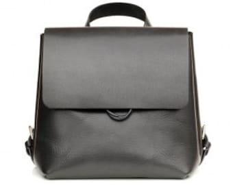 Geniune leather SMALL black backpack / rucksack