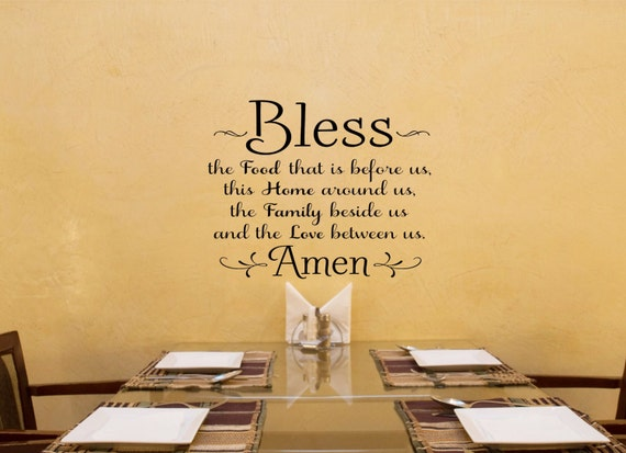 Bless The Food Before Us Kitchen Wall Decal By